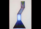 Blue Funnel: Oil on wood, LED and fluorescent light, Plexiglas - 38 x 84 inch ©2002