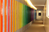 WRAL Art Commission: Acrylic, Paper Mache, Concrete – wall installation ©2012